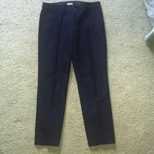 NWOT Navy Blue J. Crew 6/8 Length Dress Pants